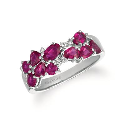 14K Vanilla Gold® Passion Ruby™ 1  3/4 cts. Ring with Vanilla Diamonds® 1/15 cts. | YRBF 4