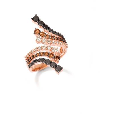 14K Strawberry Gold® Ring with Blackberry Diamonds® 7/8 cts., Chocolate Diamonds® 5/8 cts., Nude Diamonds™ 1/2 cts. | YRBI 1270