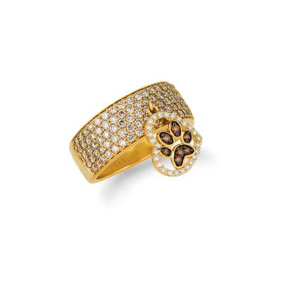 14K Honey Gold™ Ring with Chocolate Diamonds® 1/15 cts., Nude Diamonds™ 1  3/8 cts., Vanilla Diamonds® 1/8 cts. | YRBI 133-070