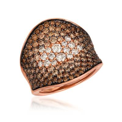 14K Strawberry Gold® Ring with Chocolate Ombré Diamonds® 3  1/8 cts. | YRBI 333