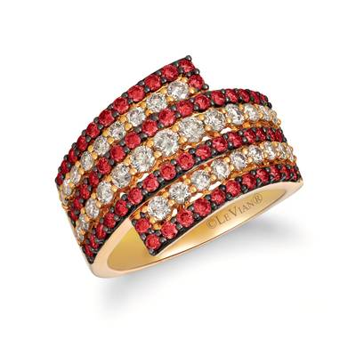 14K Honey Gold™ Passion Ruby™ 1 cts. Ring with Nude Diamonds™ 1 cts. | YRBV 62