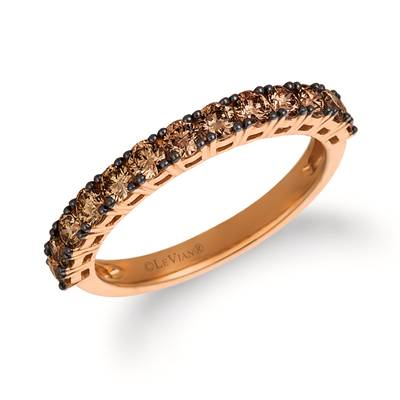 14K Strawberry Gold® Ring with Chocolate Diamonds® 3/4 cts. | YRCC 1BRN-07