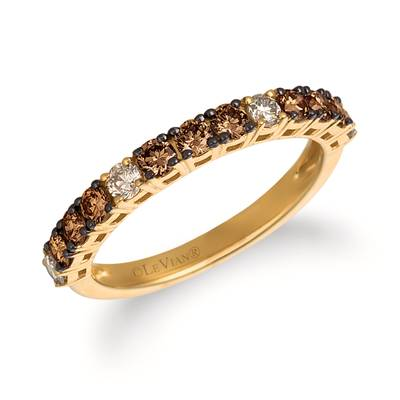 14K Honey Gold™ Ring with Chocolate Diamonds® 1/2 cts., Nude Diamonds™ 1/5 cts. | YRCC 1CBN-07