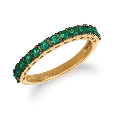 14K Honey Gold™ Costa Smeralda Emeralds™ 1/2 cts. Ring | YRCC 1EME-07