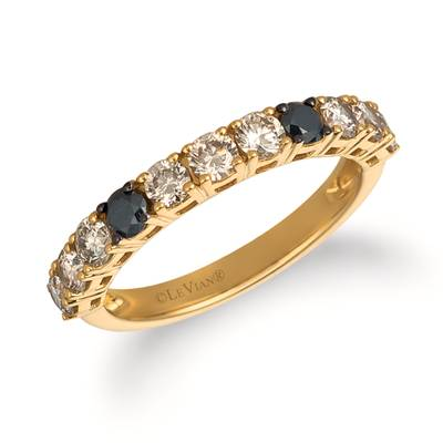 14K Honey Gold™ Ring with Blackberry Diamonds® 1/5 cts., Nude Diamonds™ 3/4 cts. | YRCC 2BLC-07