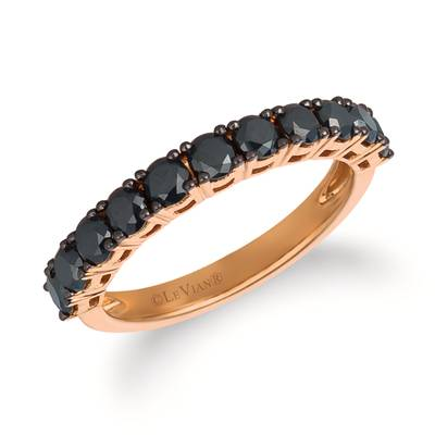 14K Strawberry Gold® Ring with Blackberry Diamonds® 1  1/8 cts. | YRCC 2BLK-07