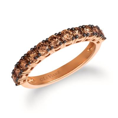 14K Strawberry Gold® Ring with Chocolate Diamonds® 7/8 cts. | YRCC 2BRN-07