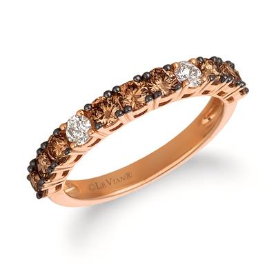 14K Strawberry Gold® Ring with Chocolate Diamonds® 3/4 cts., Vanilla Diamonds® 1/6 cts. | YRCC 2BRW-07
