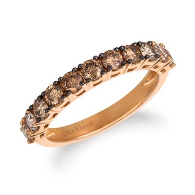 14K Strawberry Gold® Ring with Chocolate Diamonds® 5/8 cts., Candied Pecan Diamonds® 1/3 cts. | YRCC 2OMB-07