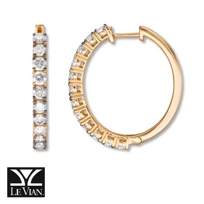 14K Honey Gold™ Earrings with Chocolate Diamonds® 1  1/2 cts., Nude Diamonds™ 1/2 cts. | YRCC 3CBN
