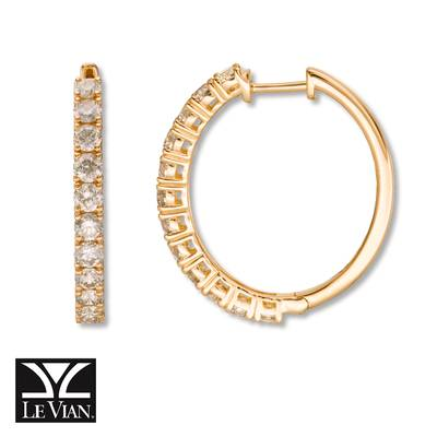 14K Honey Gold™ Earrings with Nude Diamonds™ 2 cts. | YRCC 3CRE
