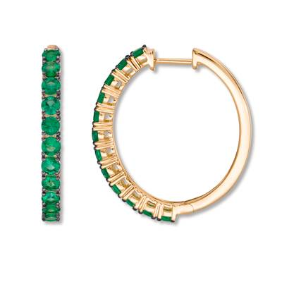 14K Honey Gold™ Costa Smeralda Emeralds™ 1  1/3 cts. Earrings | YRCC 3EME