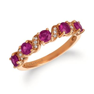 14K Strawberry Gold® Passion Ruby™ 7/8 cts. Ring with Vanilla Diamonds®  cts. | YRCC 4RU-07