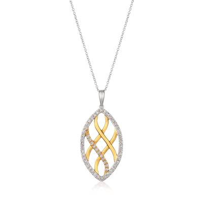 14K Two Tone Gold Pendant with Nude Diamonds™ 1 cts. | YRCE 52