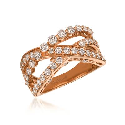 14K Strawberry Gold® Ring with Nude Diamonds™ 1  1/3 cts. | YRCI 17