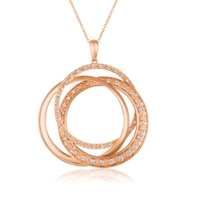 14K Strawberry Gold® Pendant with Nude Diamonds™ 1 cts. | YRCT 15