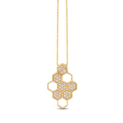 14K Honey Gold™ Pendant with Nude Diamonds™ 7/8 cts. | YRCV 24