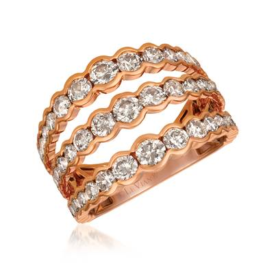 14K Strawberry Gold® Ring with Nude Diamonds™ 2  5/8 cts. | YRCZ 63