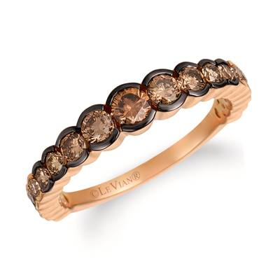 14K Strawberry Gold® Ring with Chocolate Ombré Diamonds® 7/8 cts. | YRCZ 8-070