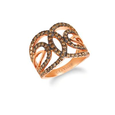 14K Strawberry Gold® Ring with Chocolate Ombré Diamonds® 1  5/8 cts. | YRDA 46-070