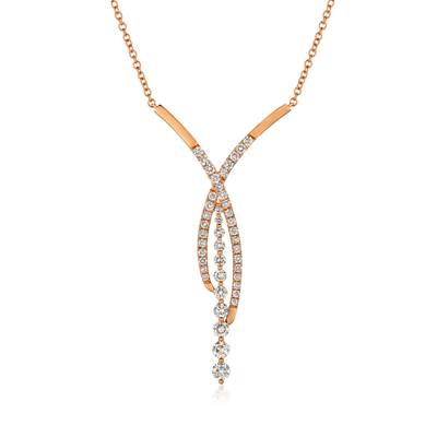 14K Strawberry Gold® Pendant with Nude Diamonds™ 1  1/2 cts. | YRDB 35