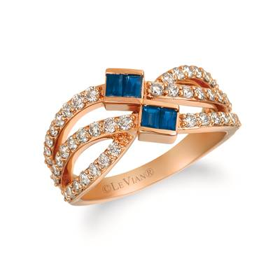 14K Strawberry Gold® Blueberry Sapphire™ 3/8 cts. Ring with Nude Diamonds™ 7/8 cts. | YRDE 6