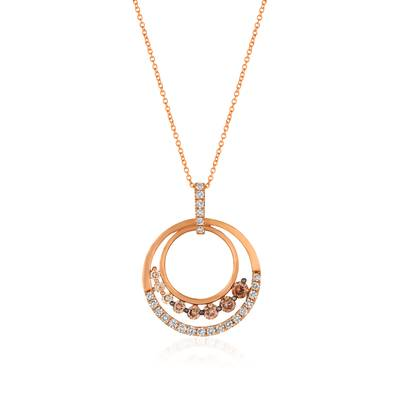 14K Strawberry Gold® Pendant with Chocolate Ombré Diamonds® 1  1/5 cts. | YRDK 1