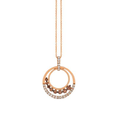 14K Strawberry Gold® Pendant with Chocolate Diamonds® 5/8 cts., Nude Diamonds™ 1/2 cts. | YRDK 5