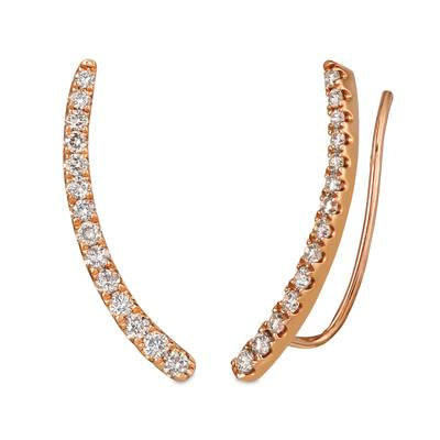 14K Strawberry Gold® Ear Climber with Nude Diamonds™ 3/4 cts. | YRDR 4