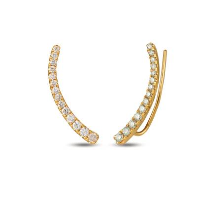 14K Honey Gold™ Ear Climber with Nude Diamonds™ 7/8 cts. | YRDR 7