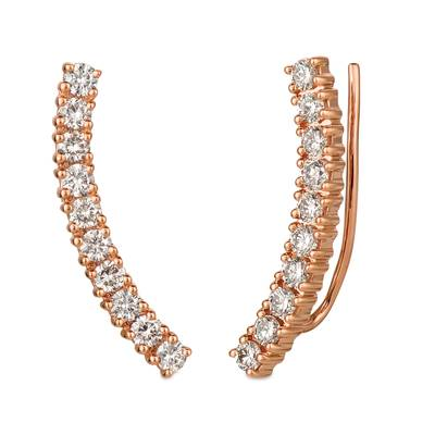 14K Strawberry Gold® Ear Climber with Nude Diamonds™ 1 cts. | YRDZ 92