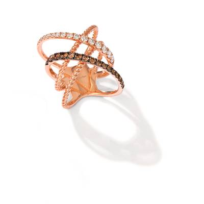 14K Strawberry Gold® Ring with Nude Diamonds™ 3/4 cts. | YREL 8
