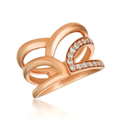 14K Strawberry Gold® Ring with Nude Diamonds™ 1/3 cts. | YREO 32