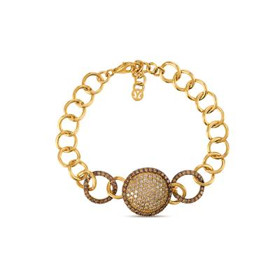 14K Honey Gold™ Bracelet with Chocolate Diamonds® 1  3/4 cts., Nude Diamonds™ 1  7/8 cts. | YREO 57