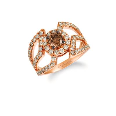 14K Strawberry Gold® Ring with Chocolate Diamonds® 3/4 cts., Nude Diamonds™ 1  1/5 cts. | YREQ 7-070