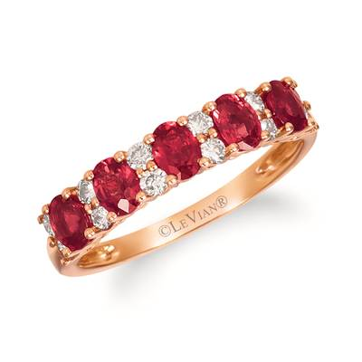14K Strawberry Gold® Passion Ruby™ 1 cts. Ring with Nude Diamonds™ 1/3 cts. | YREZ 115-070