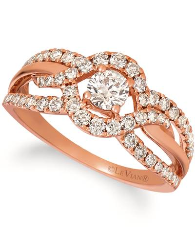 14K Strawberry Gold® Ring with Nude Diamonds™ 7/8 cts. | YREZ 52
