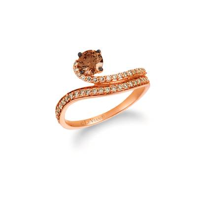 14K Strawberry Gold® Ring with Chocolate Diamonds® 1/2 cts., Nude Diamonds™ 1/4 cts. | YREZ 96-070