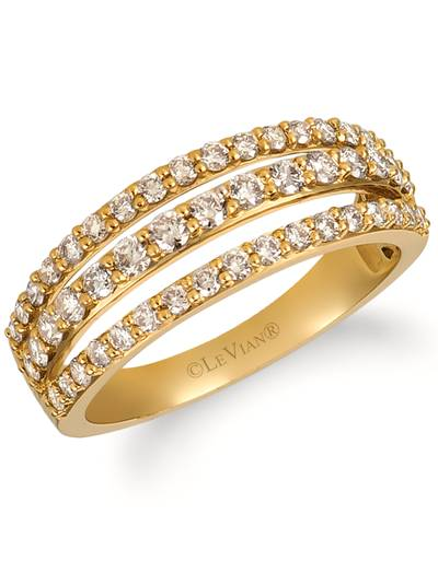 14K Honey Gold™ Ring with Nude Diamonds™ 7/8 cts. | YRFU 5