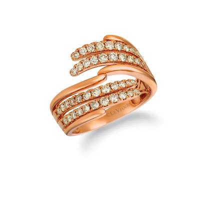 14K Strawberry Gold® Ring with Nude Diamonds™ 1 cts. | YRFW 20-070
