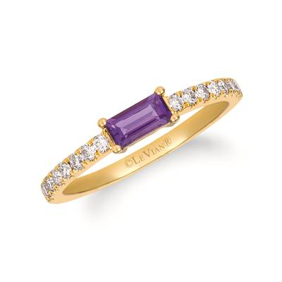 14K Honey Gold™ Grape Amethyst™ 1/3 cts. Ring with Nude Diamonds™ 1/4 cts. | YRFY 54-070