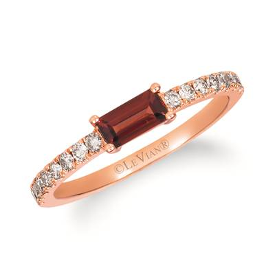 14K Strawberry Gold® Pomegranate Garnet™ 3/8 cts. Ring with Nude Diamonds™ 1/4 cts. | YRFY 56-070