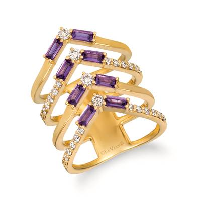 14K Honey Gold™ Grape Amethyst™ 5/8 cts. Ring with Nude Diamonds™ 5/8 cts. | YRFY 68-070
