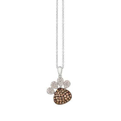 14K Vanilla Gold® Pendant with Chocolate Diamonds® 1/2 cts., Vanilla Diamonds® 1/4 cts. | YRGE 41