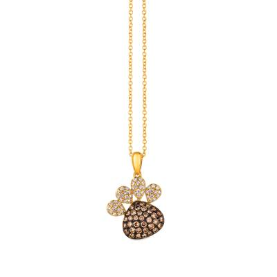 14K Honey Gold™ Pendant with Chocolate Diamonds® 1/2 cts., Vanilla Diamonds® 1/4 cts. | YRGE 42
