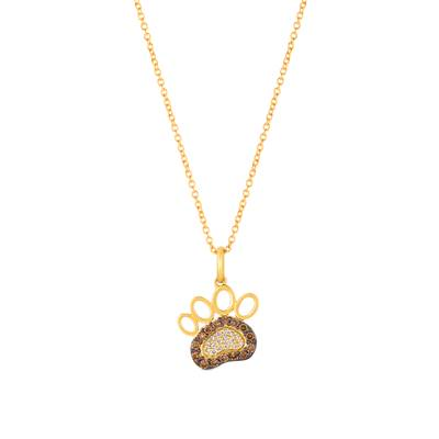 14K Honey Gold™ Pendant with Chocolate Diamonds® 1/6 cts., Vanilla Diamonds® 1/20 cts. | YRGE 44