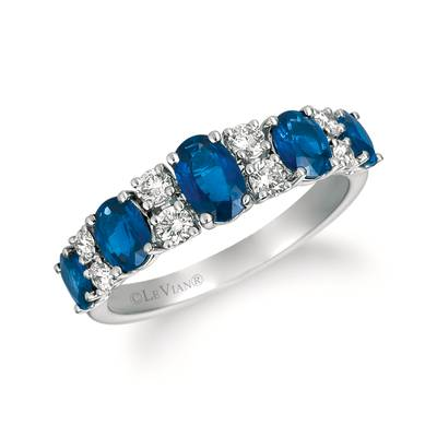 14K Strawberry Gold® Blueberry Sapphire™ 1  7/8 cts. Ring with Vanilla Diamonds® 1/3 cts. | YRGE 86