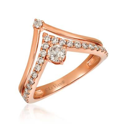 14K Strawberry Gold® Ring with Nude Diamonds™ 5/8 cts. | YRGI 12