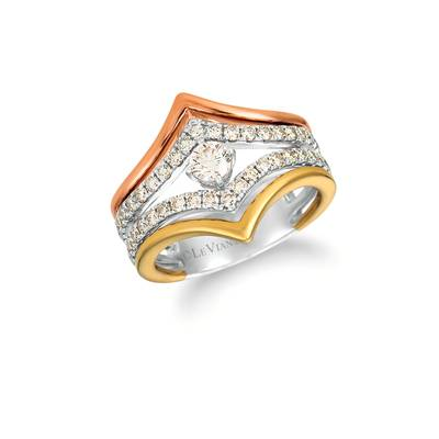 14K Tri Color Gold Ring with Nude Diamonds™ 1 cts. | YRGI 16-070