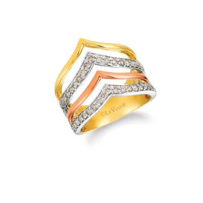 14K Tri Color Gold Ring with Nude Diamonds™ 5/8 cts. | YRGI 38-070